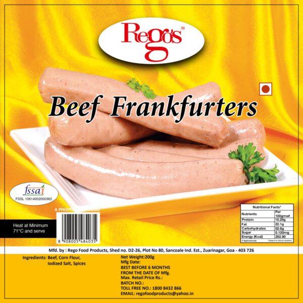 Rego's Beef Frankfurters - 200g